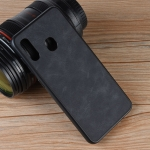 Shockproof Sheep Skin PC + PU + TPU Case for Galaxy A20 (Black)