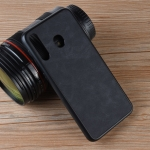 Shockproof Sheep Skin PC + PU + TPU Case for Galaxy M30 (Black)