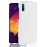Shockproof Crocodile Texture PC + PU Case for Galaxy A70 (White)