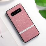 SULADA Glitter Powder Diamond TPU Case for Galaxy S10(Pink)