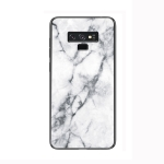 Marble Glass Protective Case for Galaxy Note 9(White)