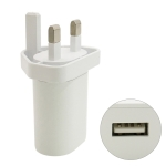 MF-05002000 5V 2.4A USB Interface Wall Charger Travel Charger, UK Plug (White)