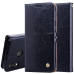 Business Style Oil Wax Texture Horizontal Flip Leather Case for Galaxy M20, with Holder & Card Slots & Wallet (Black)