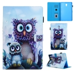 Animal Series Horizontal Flip Leather Case for Galaxy Tab A 10.5 T590, with Holder & Pen Slot(Owl Pattern)
