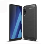 Brushed Texture Carbon Fiber TPU Case for Galaxy A50 (Black)