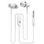 Langston R21 Metal In-Ear Round Wired Earphone (White)