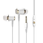 Langston R21 Metal In-Ear Round Wired Earphone (Gold)