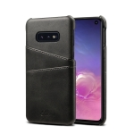 Suteni Calf Texture Protective Case for Galaxy S10 E, with Card Slots (Black)