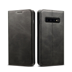 Suteni Calf Texture Horizontal Flip Leather Case for Galaxy S10, with Holder & Card Slots & Wallet (Black)