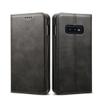 Suteni Calf Texture Horizontal Flip Leather Case for Galaxy S10 E, with Holder & Card Slots & Wallet (Black)