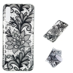 Black Flower Pattern Highly Transparent TPU Protective Case for Galaxy A70