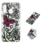 Pansy Pattern Highly Transparent TPU Protective Case for Galaxy A40