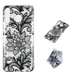 Black Flower Pattern Highly Transparent TPU Protective Case for Galaxy M30