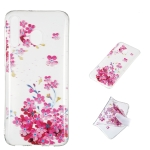 Red Plum Blossom Pattern Highly Transparent TPU Protective Case for Galaxy M30