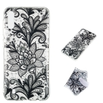 Black Flower Pattern Highly Transparent TPU Protective Case for Galaxy M10