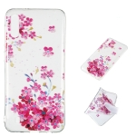 Red Plum Blossom Pattern Highly Transparent TPU Protective Case for Galaxy M10