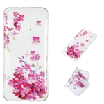 Red Plum Blossom Pattern Highly Transparent TPU Protective Case for Galaxy M20
