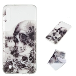 Black Flower Skull Pattern Highly Transparent TPU Protective Case for Galaxy M10