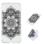 Datura Noir Pattern Highly Transparent TPU Protective Case for Galaxy M10
