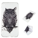 Owl Pattern Highly Transparent TPU Protective Case for Galaxy M10