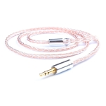 3.5 Stereo + MMCX Direct Plug DIY 8 Core Mixing Color Silver-plated Headphone Wire, Length : 1.2m