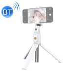 K07 Bluetooth 4.0 Mobile Phone Adjustable Bluetooth Selfie Stick Self-timer Pole Tripod (White)