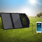 ALLPOWERS Solar Panel Charger Dual USB 5V2A Portable Solar Panel Phone Charger