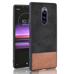 Shockproof Color Matching Denim PC + PU + TPU Protective Case for Sony Xperia 1 (Black)