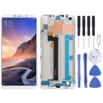 LCD Screen and Digitizer Full Assembly with Frame for Xiaomi Mi Max 3 (White)
