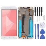 LCD Screen and Digitizer Full Assembly with Frame for Xiaomi Redmi 4X (White)