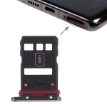 Original SIM Card Tray + NM Card Tray for Huawei P30 Pro (Black)