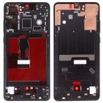 Original Front Housing LCD Frame Bezel Plate with Side Keys for Huawei P30(Black)