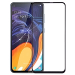 Front Screen Outer Glass Lens for Galaxy A60 (Black)