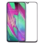 Front Screen Outer Glass Lens for Galaxy A40 (Black)