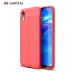 Litchi Texture TPU Shockproof Case for Honor 8S(Red)