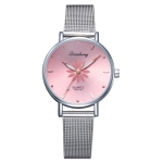 GAIETY Dial Flowers Metal Band Quartz Watch(Pink)
