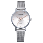 GAIETY Dial Flowers Metal Band Quartz Watch(White)