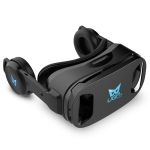 UGP 3D IMAX Virtual Reality Helmet VR Headset for Smartphone 4.5-6 Inch With Bluetooth Gamepad VR Glasses(black)