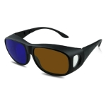 Family Pack Myopia Vision Brown Blue-Amber Cyan 3D Anaglyph Simple Style Plastic 3D Glasses for 3D Movies Games