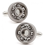 1 Pair Ball Bearing Cufflinks Functional Rotatable Diversity of Mechanic Vintage Metal Color Bearing Design Cuff Links