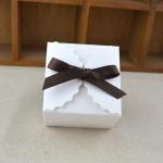 10 PCS Retro Mini Kraft Paper Box DIY Wedding Favor Gift Box Small Cake Box(White)