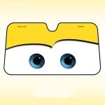 Car Eyes Windshield Sunshade Car Window Windscreen Cover Sun Shade Protection Auto Sun Visor Car-cover, Size:130x70cm(Yellow)