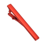 Matte Smooth Tie Clip Clasp(Red)