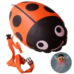 Ladybug Shape Safety Thickening Gas Nozzle Double Balloon Swim Floats Equipment Swimming Pool Floating Lifesaving Ball Inflatable Bags(yellow)