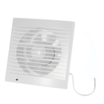 Silence Ventilating Exhaust Extractor Fan for Window Wall Bathroom Toilet Kitchen Mounted 6 Inch