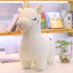 3 PCS Creative New Animal Beast Alpaca Doll Plush Toy Grass Mud Horse Children Birthday Gift Doll Machine Doll, color:white(30cm)