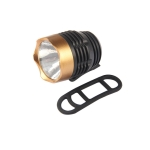 Cycling Q5 LED 3 Modes Front Light Headlamp Headlight Torch Waterproof for Mountain Road Bike(Black Gold)