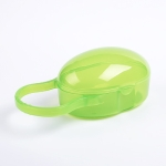 Baby Pacifier Storage Box Portable Infants Soother Pacifier Travel Dust Box(Green)