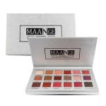 3 PCS 18 Color Shimmer Glitter Eye Shadow Powder Matt Eyeshadow Cosmetic Makeup(M18 color eye shadow silver plate)