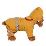 Waterproof Jacket Clothes Fashion Pet Raincoat Puppy Dog Cat Hoodie Raincoat, Size:S(Yellow)